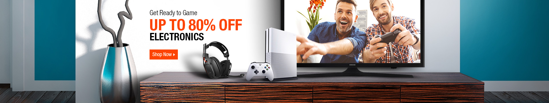 Get ready to game up to 80% off electronics