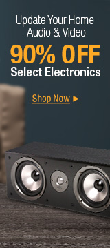 Update your home audio & video 90% off select electronics