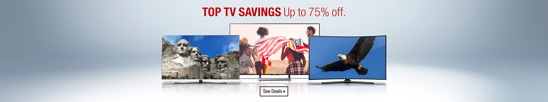 Top TV savings up to 75% off