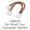 Cables for what your computer needs!
