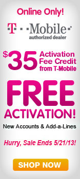 $35 activation, free credit from T-mobile