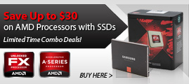 Save Up to $30 on AMD Processors with SSDs