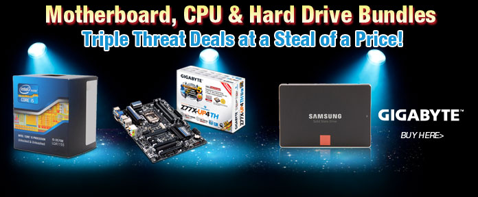 Motherboard, CPU & Hard Drive Bundles