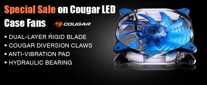 Special sale on cougar LED case fans