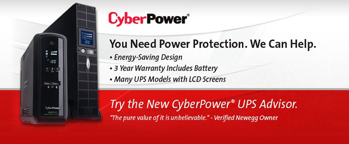 CyberPower UPS Configurator Upgrade Today!