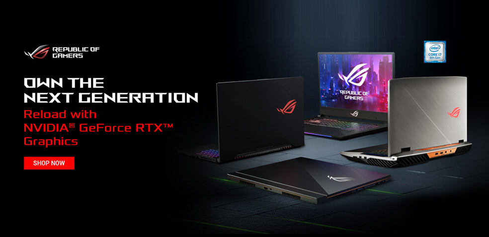 8TH-Gen ASUS Gaming Laptops