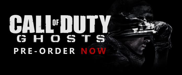 CALL OF DUTY GUOSTS PRE-ORDER NOW