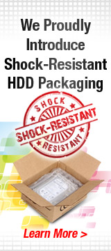 We Proudly Introduce Shock-Resistant HDD Packaging