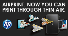 AIRPRINT. NOW YOU CAN PRINT THROUGH THIN AIR