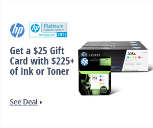 Get a $25 Gift Card with $225+ of Ink or Toner