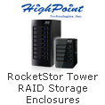 RocketStor tower RAID storage enclosures
