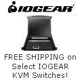 Free shipping on select IOGEAR KVM Switches