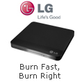 Burn Fast, Burn Right with LG Optical Drives