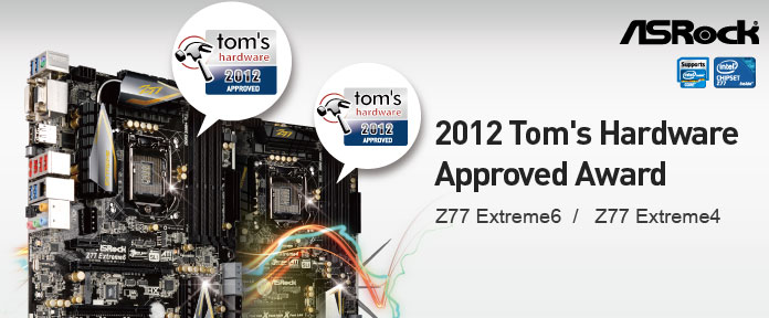 2012 Tom's Hardware Approved Award