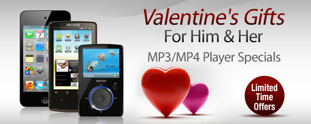 Valentine's Day MP3/MP4 player specials at Newegg.com