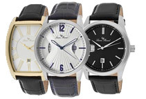Lucien Piccard Men's Leather Watches (4 Styles)
