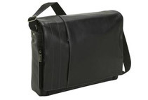 Kenneth Cole Reaction Whats The Bag Idea? Leather Laptop Messenger Bag