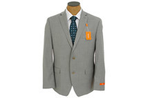 Tallia Men's 2-Button Pinstripe Wool Suit, Light Gray