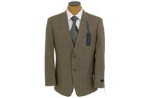 Tommy Hilfiger Men's Stripe Trim Fit Wool Suit, Brown