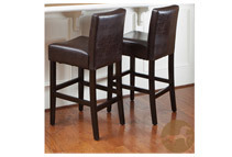 Christopher Knight Home Bonded Leather Barstools, Set of 2