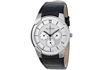 Skagen 856XLSLC Men's Steel Collection Silver-Tone Dial Watch