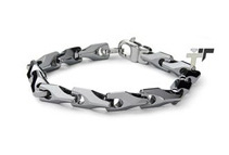 Tungsten 9inch Horseshoe-Style Link Bracelet (2 Colors)