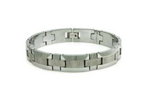 Tungsten 8.5inch Bracelet with Wood Style Design (4 Colors)