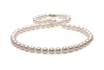 18inch 14k Gold/White Gold Freshwater Pearl Necklace (2 Colors)