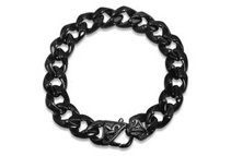 Men's Black Stainless Steel Curb Link Bracelet