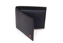 Alpine Swiss Men's Black Leather Bifold Wallets (2 Styles)