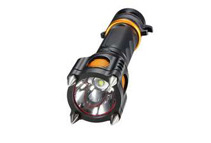 Tactical 2000LM 5 Modes LED Flashlight Torch + Alarm