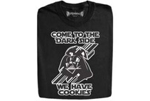 Come to the Dark Side, We have Cookies Black T-Shirts (5 Sizes)