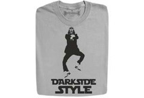 Funny Dark Side Gangnam Style Grey T-Shirts (5 Sizes)