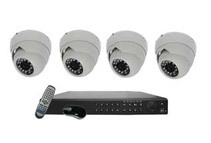 4CH HD SDI DVR Surveillance Camera Kit + 1TB HDD Installed