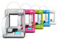 3D Systems Cube 3D Printer w/ Starter PLA Neon Green Cartridge