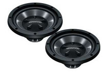 Kenwood 12inch Single 8 Ohm 800W Max Car Subwoofer, Pair