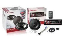 Pioneer CD MP3 Car Receiver w/ Front Aux USB + Pair of Pioneer 6.5inch Speakers