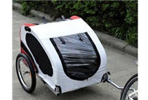 Aosom Pet Bike Trailer, Red / White / Black