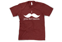 I Mustache You For Bacon Funny T-Shirt (Small-4XL)