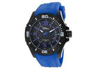Elini Barokas Artisan Men's Black Dial Blue Rubber Strap Analog Watch