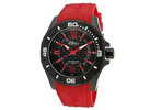 Elini Barokas Artisan Men's Black Dial Red Rubber Strap Analog Watch