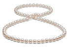 26inch 7.5-8mm White Freshwater Pearl Necklace, AA+ Quality
