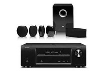 Denon 5.1 CH Networking Receiver and JBL CS480 Speaker System Bundle, Black