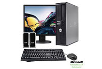 Refurbished: Dell Optiplex 19inch LCD Keyboard Mouse Speakers Computer Bundle (1 Year Warranty)