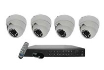 4CH HD-SDI DVR + 1TB HDD  Weatherproof Security Camera System