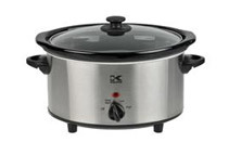 Kalorik Stainless Steel Oval Slow Cooker (2 Sizes)