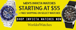 Mens Invicat Watches Starting at $55