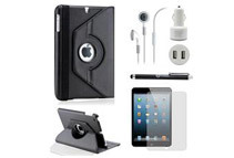5-Piece Travel Accessories Bundle for iPad Mini (8 Colors)