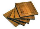 HealthPro Organic Moso Bamboo 5-Pc Coaster Set (2 Shapes)