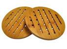 HealthPro Organic Moso Bamboo 2-Piece Trivet Set